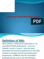Seminar on Skilled Birth SBA Module