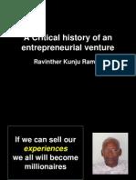 A Critcal History of an Entrepreneurial Venture