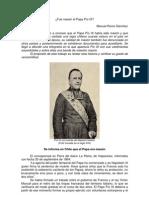 Fue masón el Papa Pío IX?