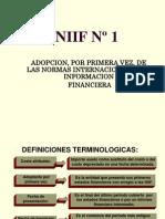 23.   NIIF 1 ADOPCIÓN NIIFS PRIMERA VEZ