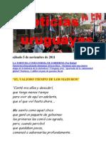 Noticias uruguayas sábado 5 de noviembre de 2011