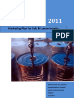 Marketing Plan for Cold Bitumen in India_School of Petroleum Management_Gandhinagar