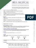 Método de Teoria Musical Elementar - Principais Tópicos para Estudo preparatório para Oficialização na CCB