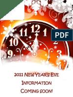 NYE 2011 - Coming Soon