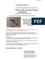 KSC or KWA Glock 18C Hammer Spring Installation