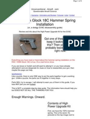 KSC/KWA Glock 18C Hammer Spring Installation