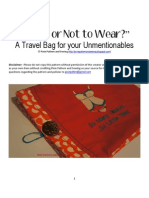 Lingerie Travel Bag Sewing Tutorial and Pattern