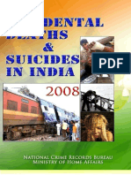 Accidental Deaths & Suicides Report India 2008 (NCRB)