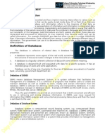 Definition of Database