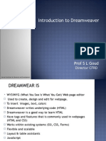 Introduction to Web Designing(Dreamweaver)
