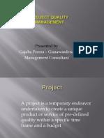 Project Quality Management Slida