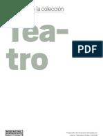 Teatro. Desplegable Web
