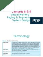 Operating Systems 08 09 Virtual Memory Paging & Segmentation System Design