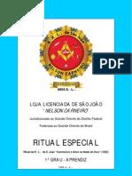 Ritual de Aprendiz - 1822