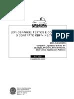 CONTRATO CBF-NIKE À LUZ DA LEGISLAÇÃO DESPORTIVA
