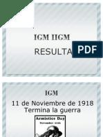 IGM IIGM CONSECUENCIAS