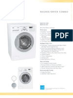 LG WM3431HS Washer-Dryer Combo Brochure