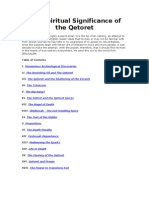 The Spiritual Significance of the Qetoret