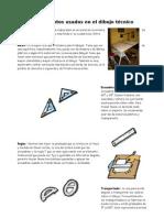 Instrumentos usados en el dibujo técnico