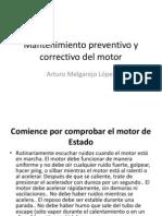 Mantenimiento preventivo y correctivo del motor
