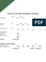 Calculo de Prestaciones Sociales