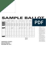 Saratoga Sample Ballot