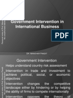 Govt Intervention