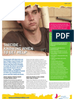 Youth - Suicide Knowing When to Help