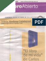 Reseña de prensa Adela Medina