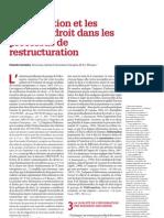 F, Lecomte, L'information et les règles de droit dans les processus de restructuration