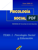 Tema 1 (Psicologia Social)
