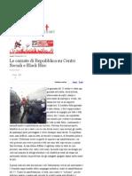 Le Cazzate Di Repubblica Su Centri Sociali e Black Bloc