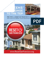 San Franciscans Repond To The SFMTA's Transit Effectiveness Project