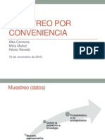 Muestreo Por Conveniencia-Informe Oral