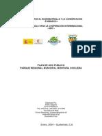 Plan de Uso Publico Montaña Chiclera, FUNDAECO