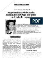 Mejoramiento Suelo Salino - Yeso