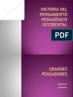 HISTORIA DEL PENSAMIENTO PEDAGÓGICO OCCIDENTAL