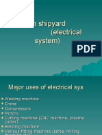 Safety in Shipyard (Electrical Sys)