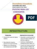 PROPUESTA ELECCIONES CMP 2012-2013