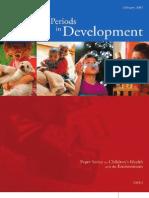períodos críticos en el desarrollo
