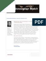 Innovation Watch Newsletter 10.23 - November 5, 2011