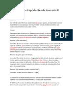 Noticia 27, Conceptos Importantes de Inversión II