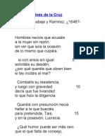 Sor Juana Inés de la Cruz- poema