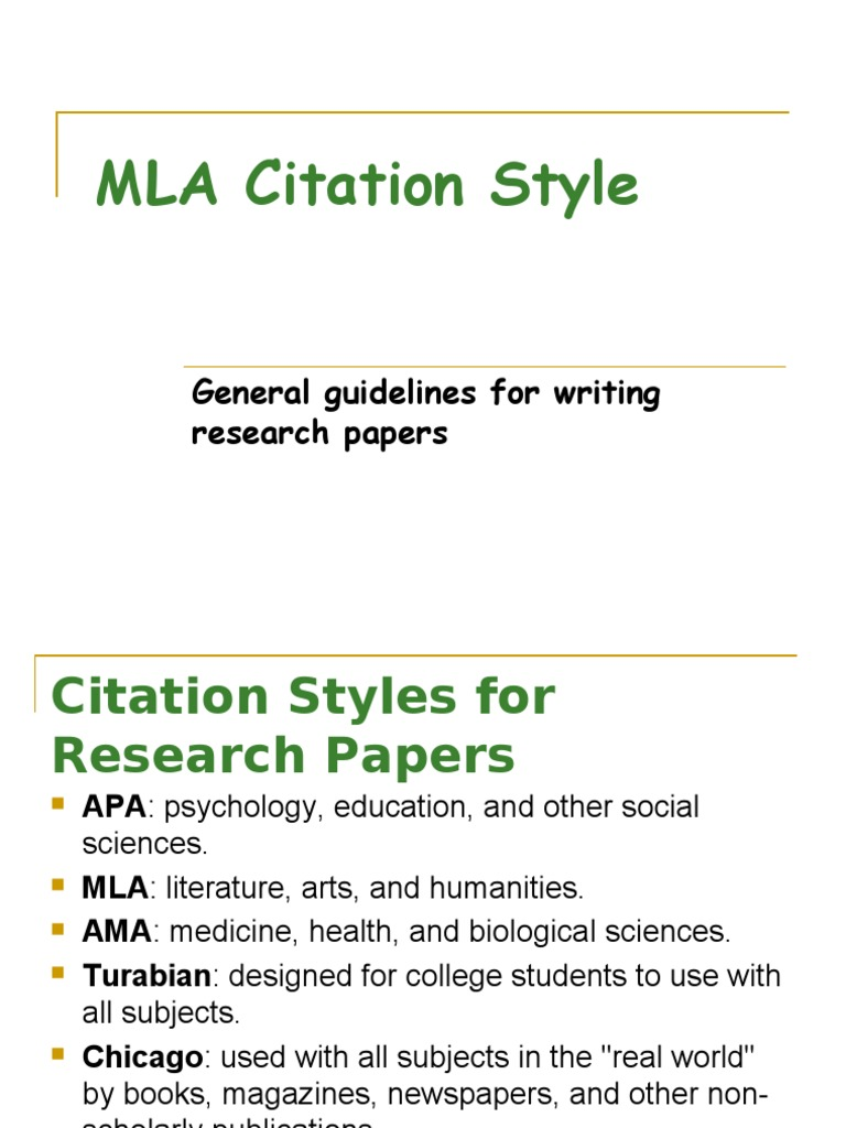 citation in paper research