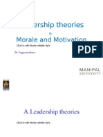Unit 2 -Support Leadership and Morale & Motivation