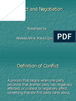 Conflict and Negotiation (OB)