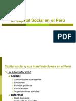 El Capital Social en el Perú