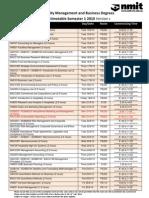 Exam Timetable Sem 1 2010 Version DRAFT 4