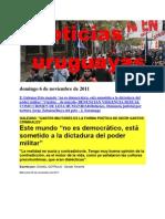 Noticias Uruguayas Domingo 6 de Noviembre de 2011