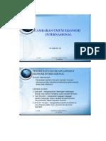 Bab 1 Gambaran Umum Ekonomi Internasional